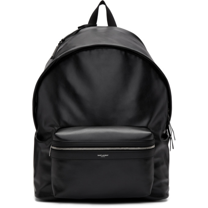 Photo: Saint Laurent Black Leather Giant City Backpack