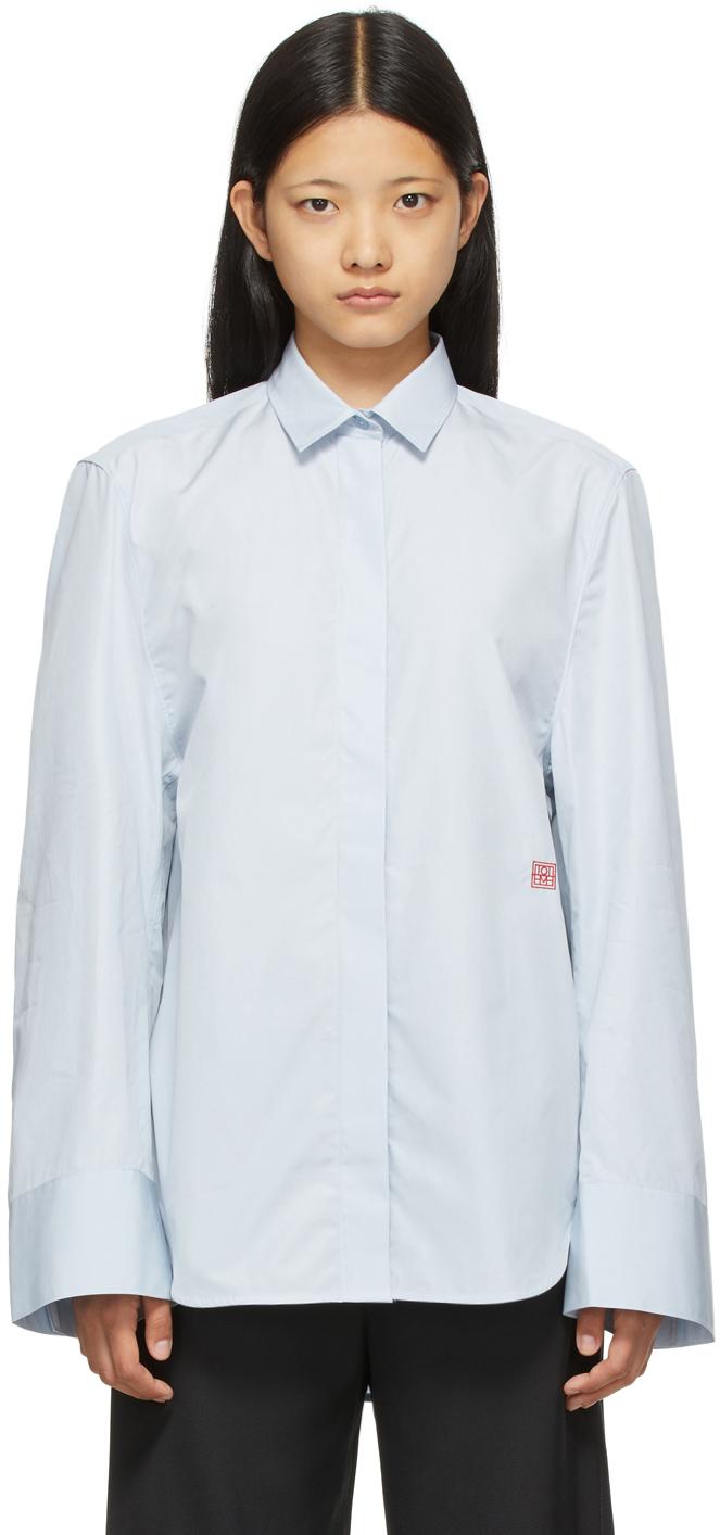 Photo: Totême Blue Wide Sleeve Shirt