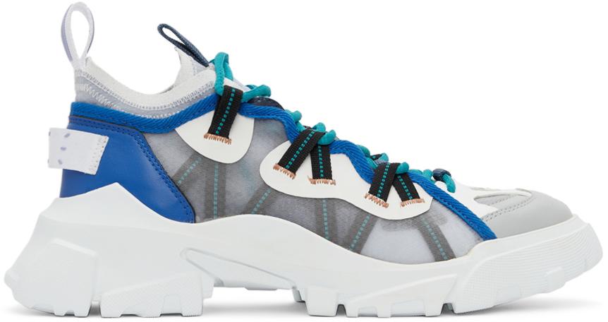 MCQ Grey & Blue Orbyt Descender Sneakers