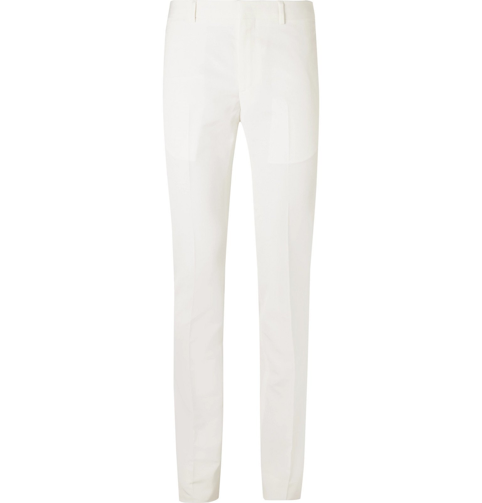 Photo: Givenchy - Skinny-Fit Crepe Trousers - White