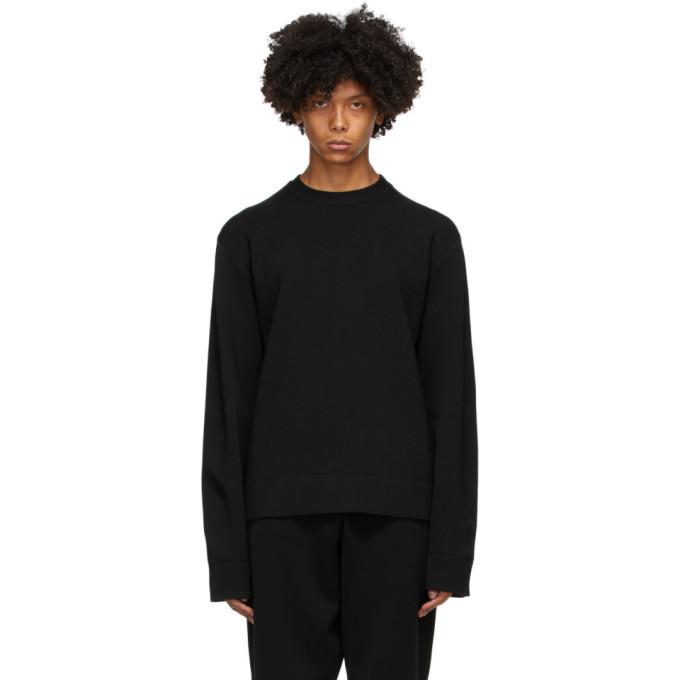 Photo: Bottega Veneta Black and Brown Wool Double-Face Sweatshirt