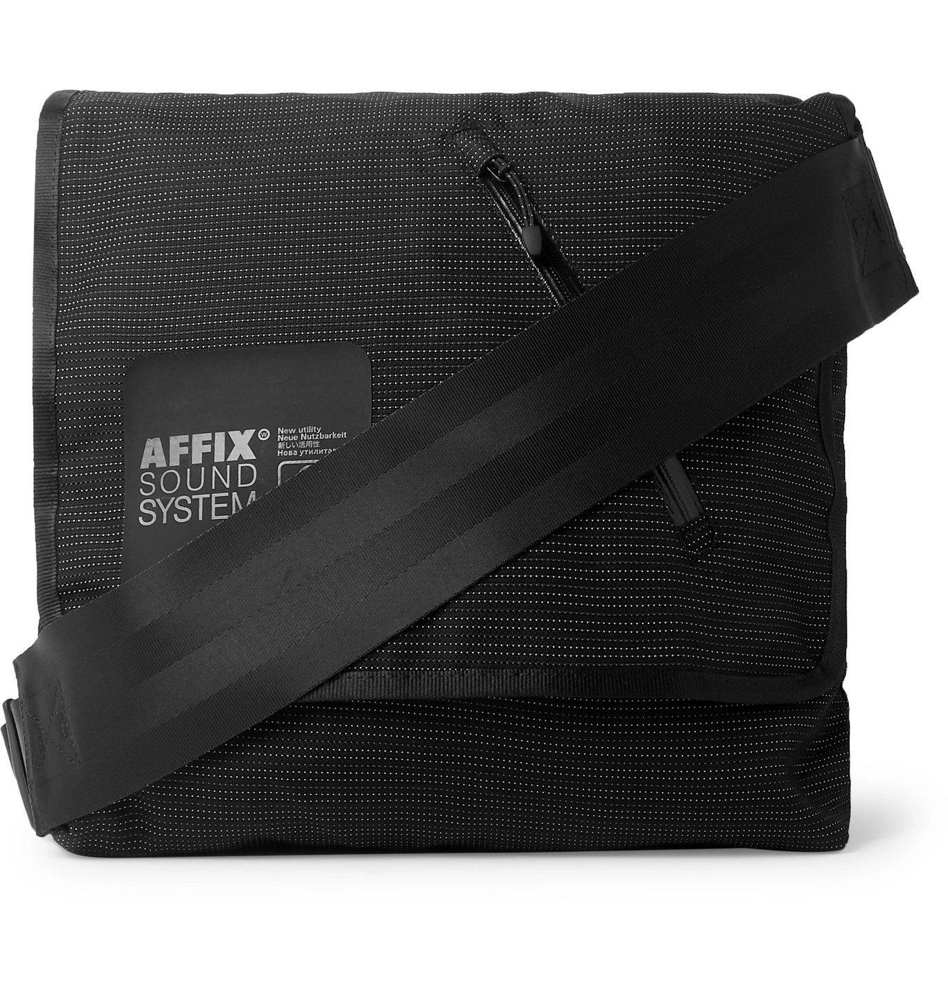 Photo: AFFIX - Visibility Reflective Embroidered Nylon Messenger Bag - Black