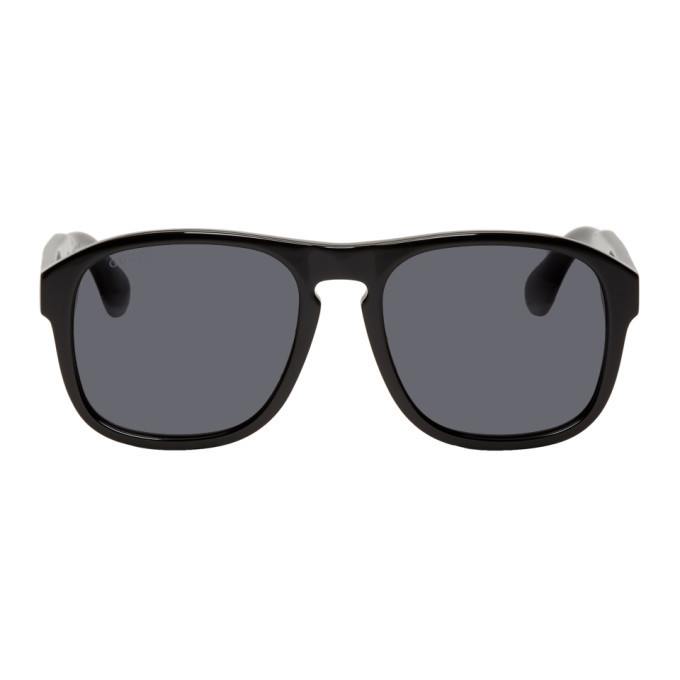 Photo: Gucci Black Sporty Square Sunglasses