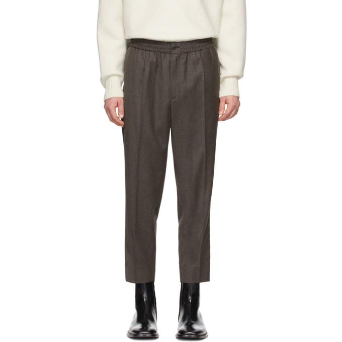Photo: AMI Alexandre Mattiussi Grey Wool Cropped Trousers