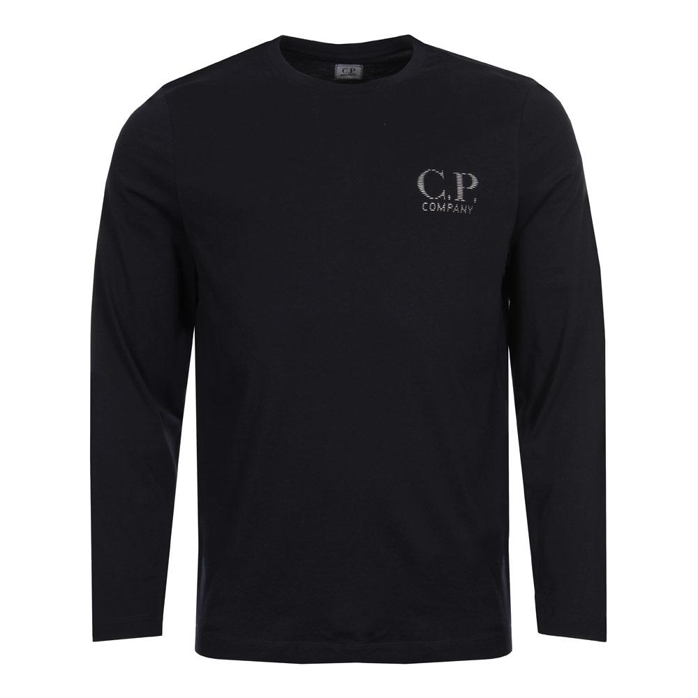 Long Sleeve T Shirt w/ Logo - Navy
