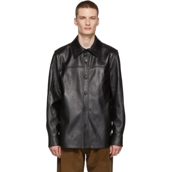 Photo: Acne Studios Black Leather Jacket