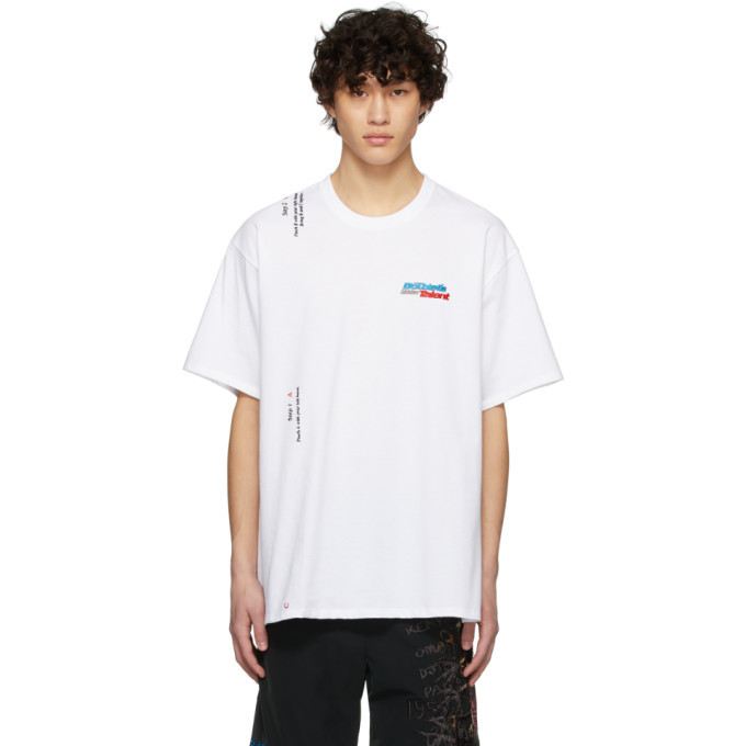 Photo: Doublet White 2 Seconds Holding T-Shirt