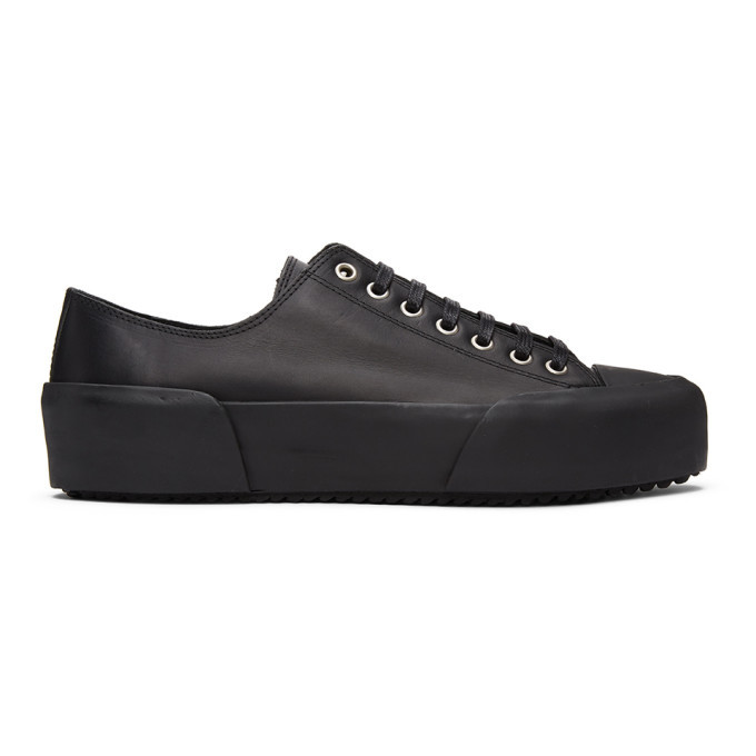 Photo: Jil Sander Black Leather Sneakers