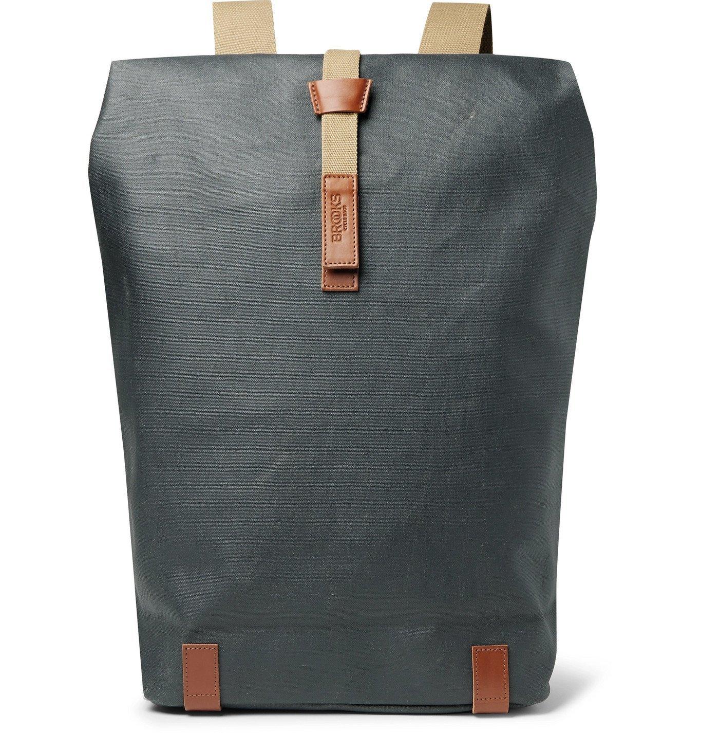 Photo: Brooks England - Pickwick Large Coated-Canvas Backpack - Gray