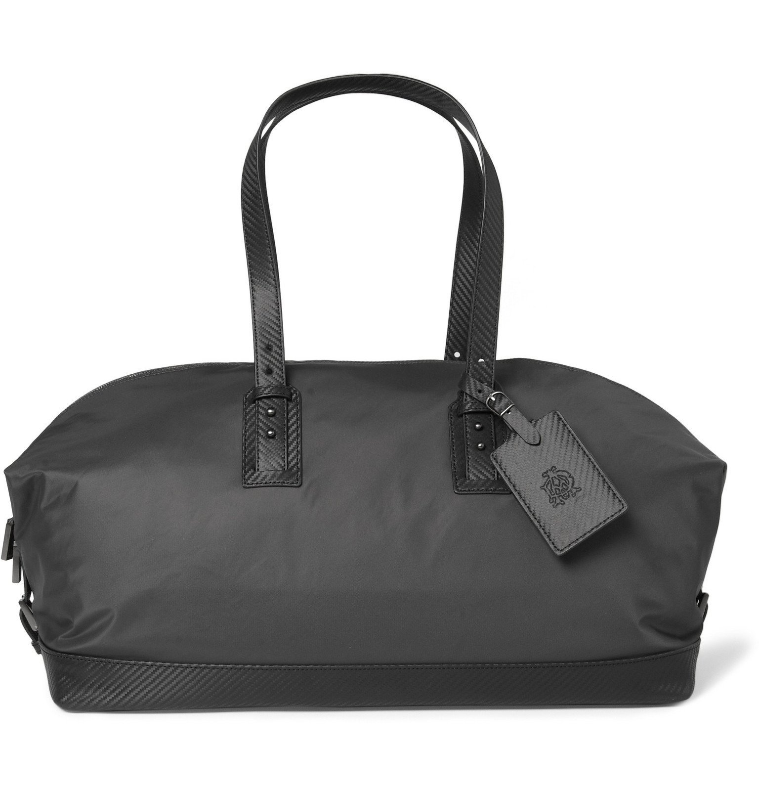 Dunhill - Lightweight Leather-Trimmed Holdall Bag - Gray