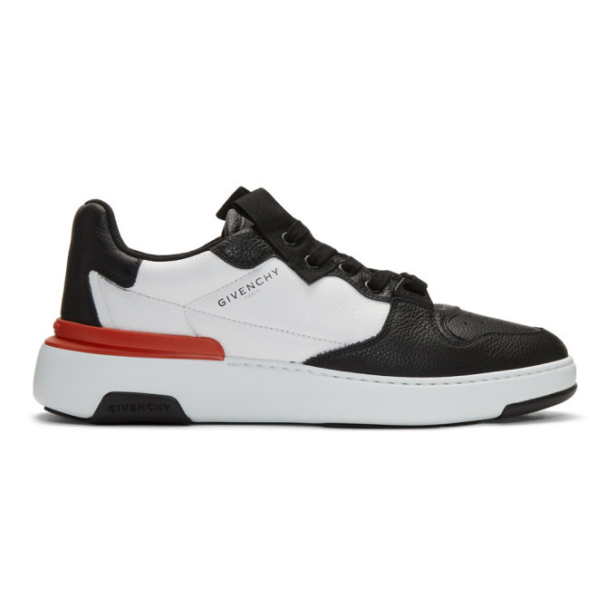 Photo: Givenchy Black and White Wing Low Sneakers
