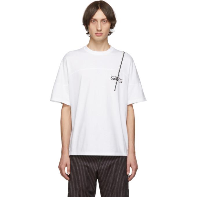 Photo: Kiko Kostadinov White Graphic Embroidery T-Shirt