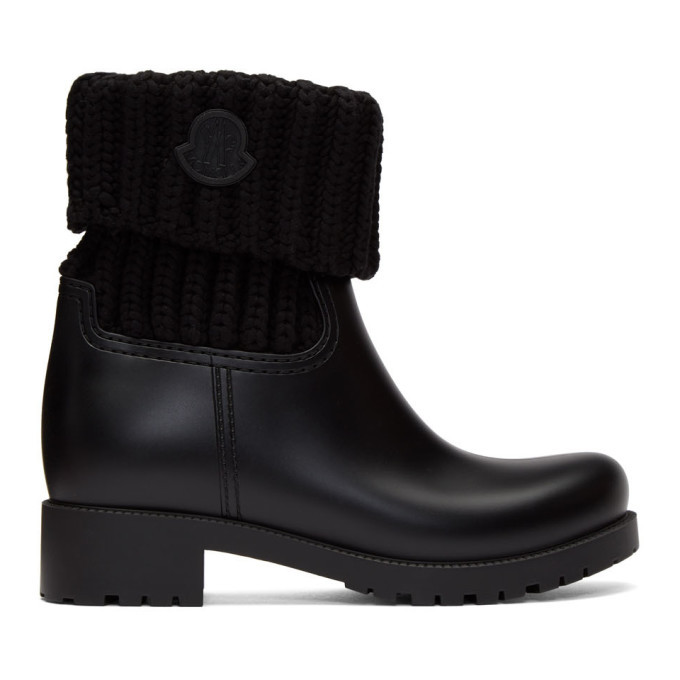 Photo: Moncler Black Knit Ginette Boots