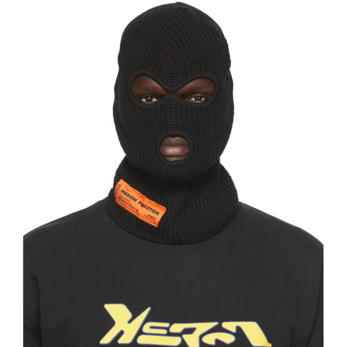 Photo: Heron Preston Black Logo Balaclava