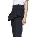 3.1 Phillip Lim Navy Ruffled Apron Trousers