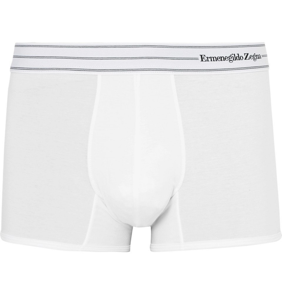 Photo: Ermenegildo Zegna - Stretch-Cotton Boxer Briefs - White