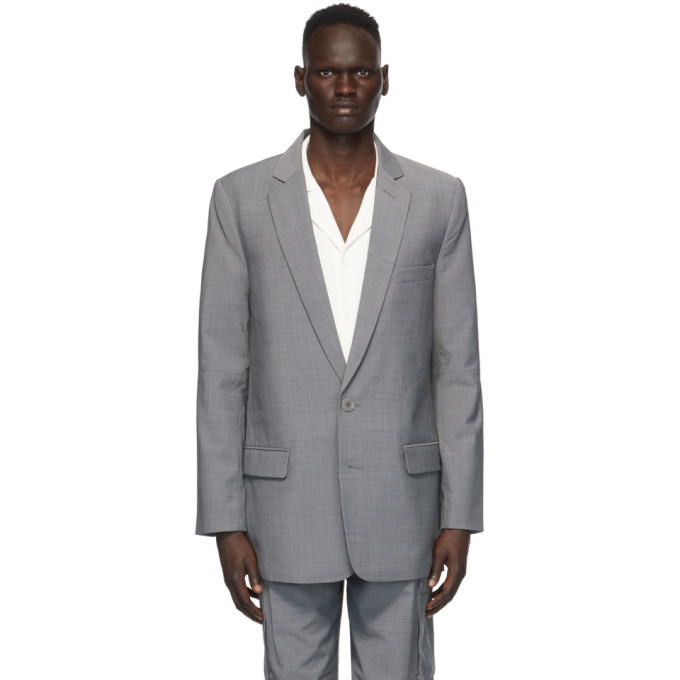Photo: Tibi Grey Cut-Out Long Blazer