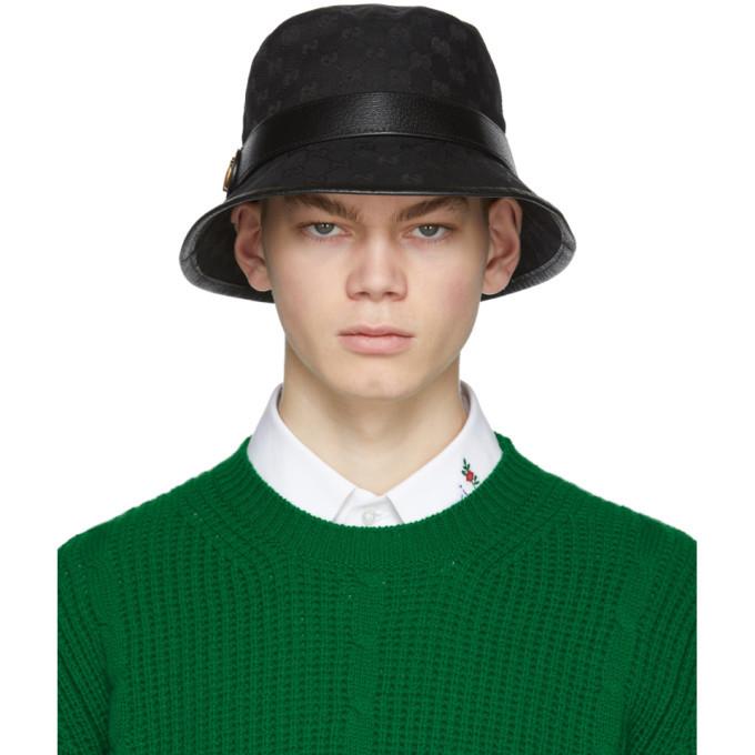 Photo: Gucci Black GG Supreme Bucket Hat