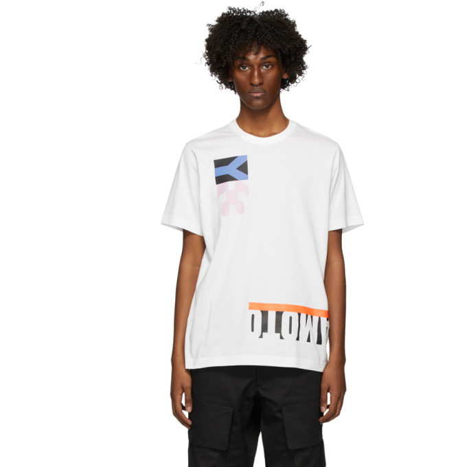 Y-3 White Graphic T-Shirt