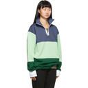 Acne Studios Navy Flint Flag Face Half-Zip Sweatshirt