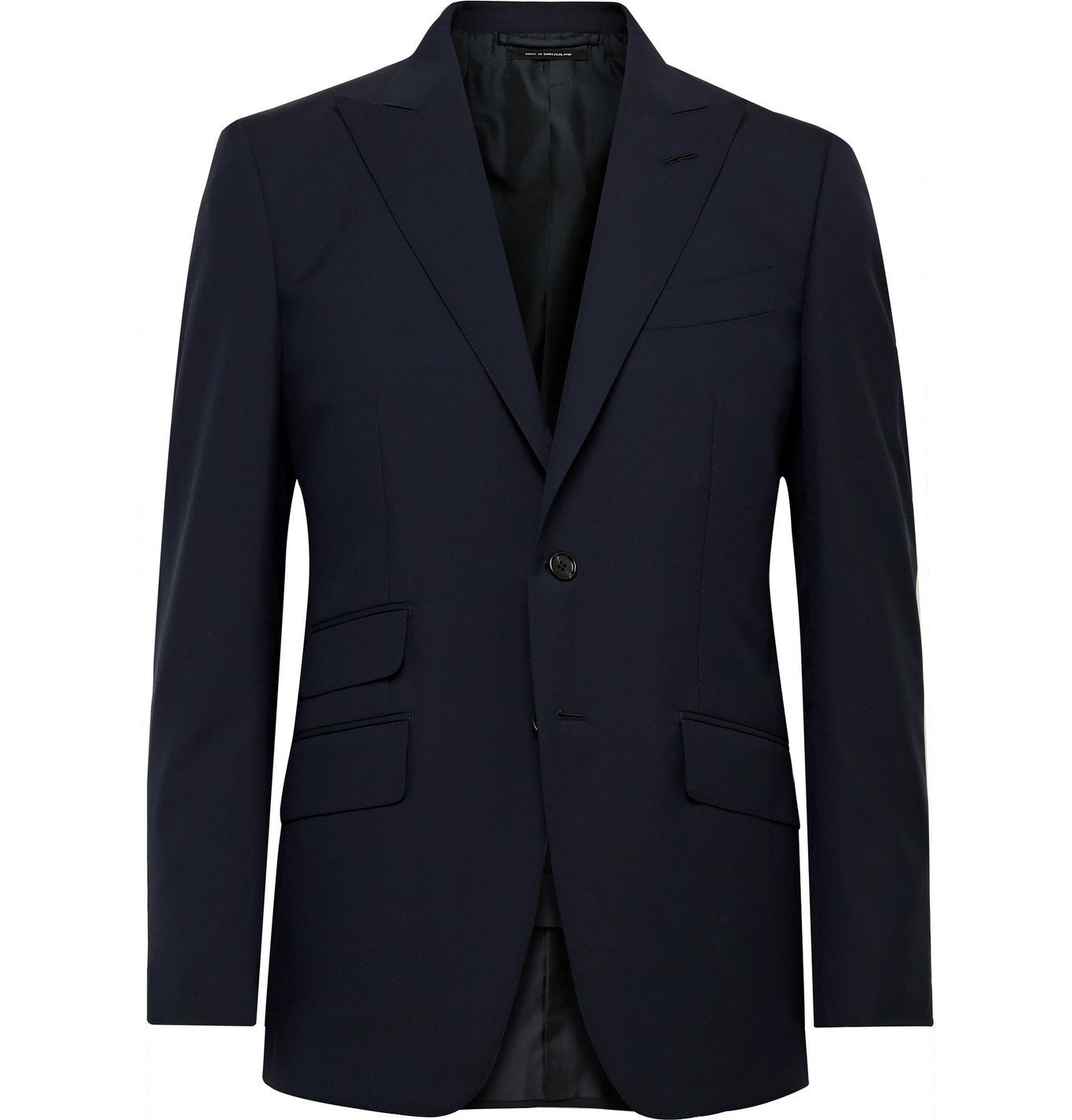 Photo: TOM FORD - O'Connor Slim-Fit Super 120s Wool Suit Jacket - Blue