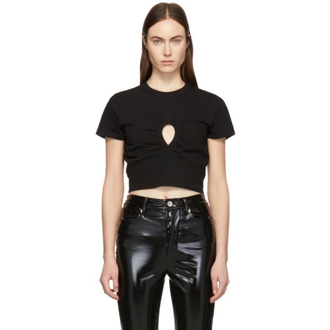 alexanderwang.t Black High Twist Keyhole Cropped T-Shirt