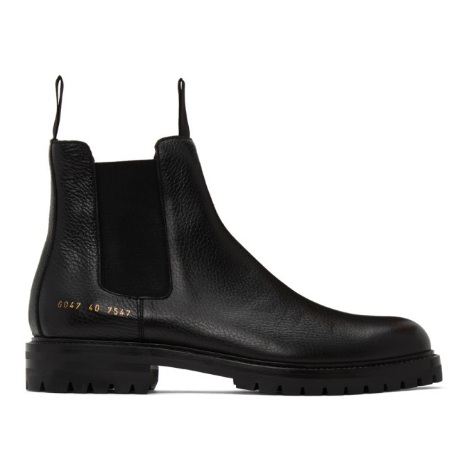 Photo: Common Projects Black Winter Chelsea Boots