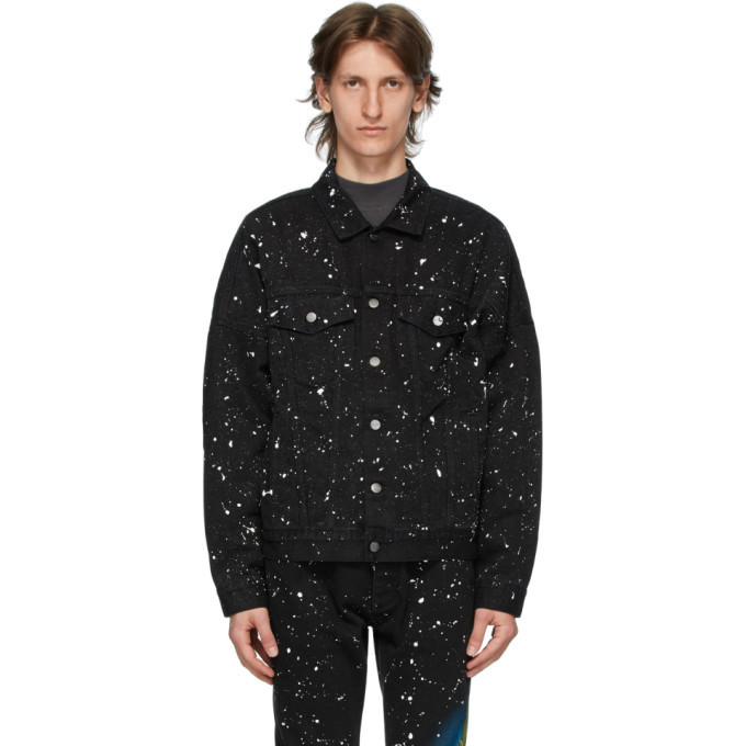 Photo: Palm Angels Black Denim Cactus Jacket