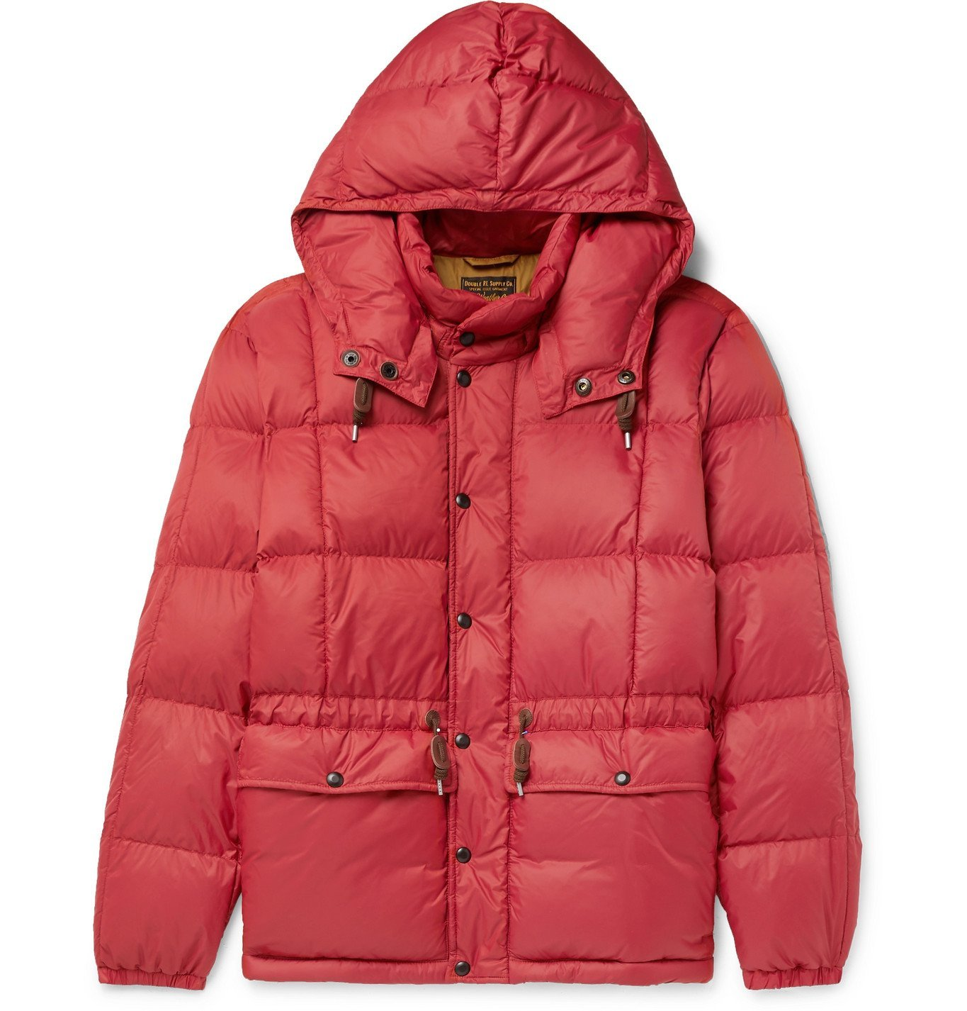 RRL - Amber Quilted Padded Nylon Hooded Jacket - Red