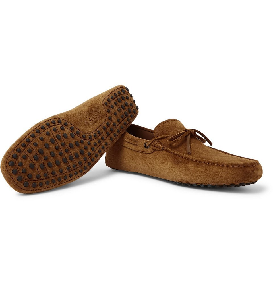 Tod's - Gommino Suede Driving Shoes - Tan