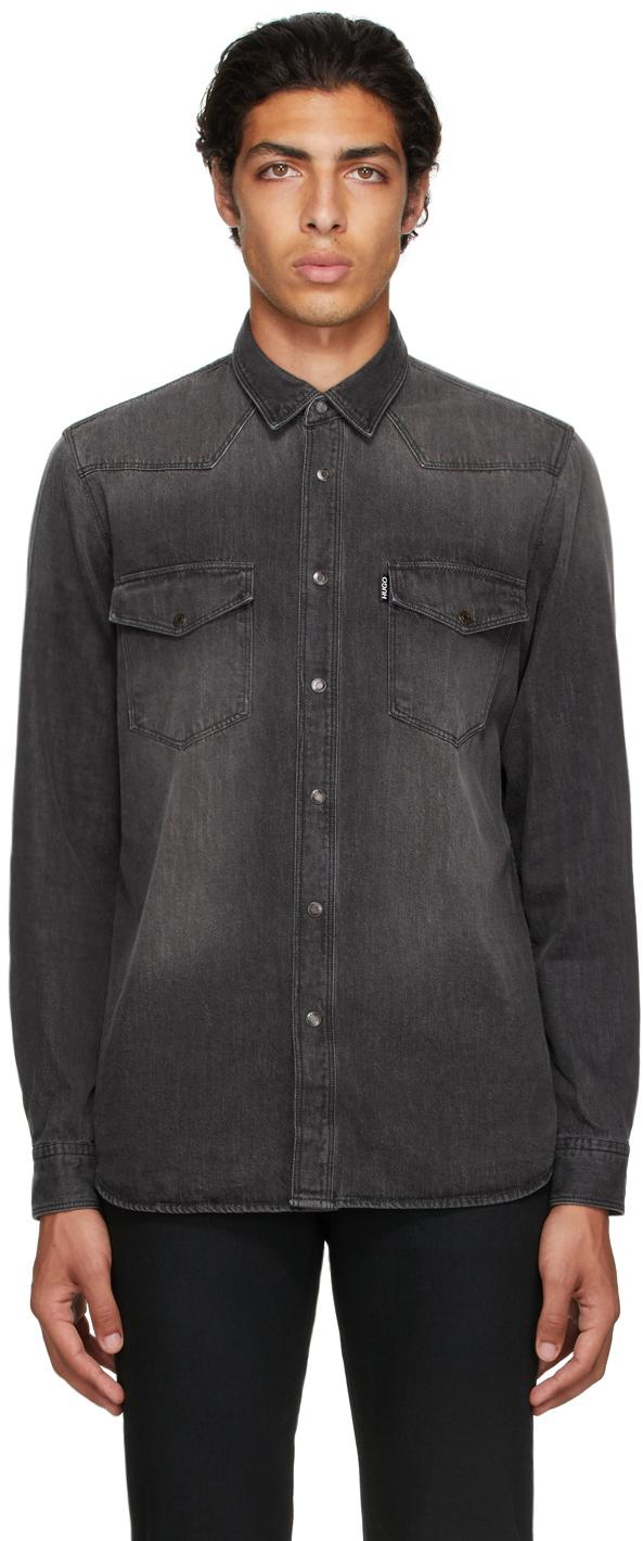 Photo: Hugo Grey Denim Elpaz Shirt