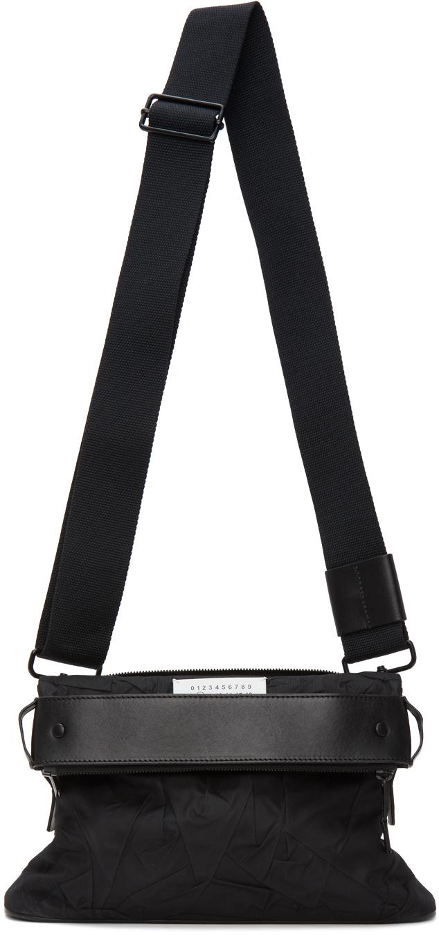 Photo: Maison Margiela Black Nylon Small Messenger Bag