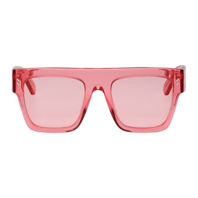 Photo: Stella McCartney Pink Oversized Flat Top Sunglasses