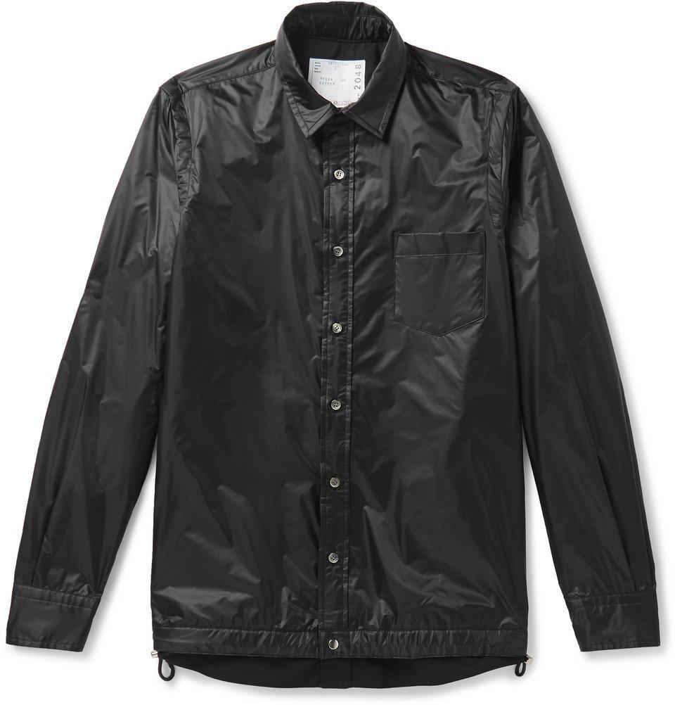 Sacai - Layered Nylon Overshirt - Black