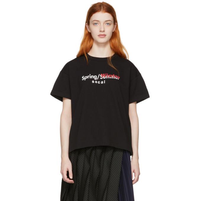 Sacai Black Spring/Winter T-Shirt