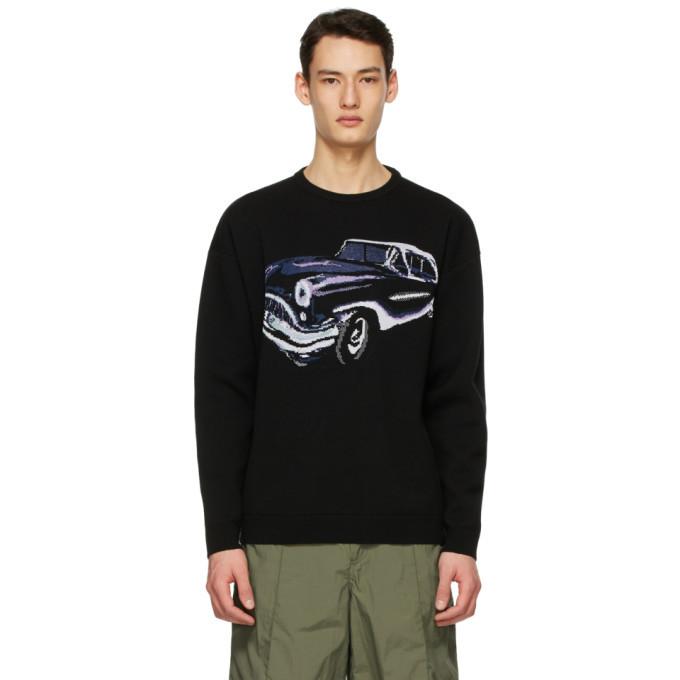 Photo: Givenchy Black Jacquard Car Sweater