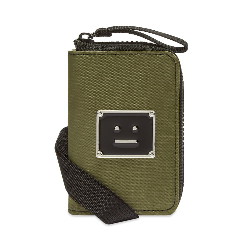 Photo: Acne Studios Acton Plaque Face Strap Wallet