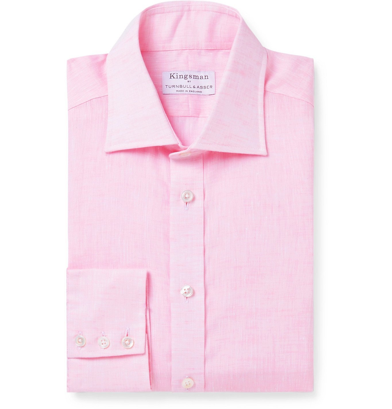 Photo: Kingsman - Turnbull & Asser Linen Shirt - Pink