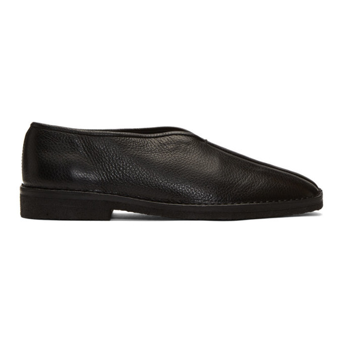 Photo: Lemaire Black Leather Slippers