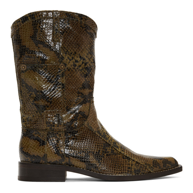 Photo: Martine Rose Brown Snake Cowboy Boots