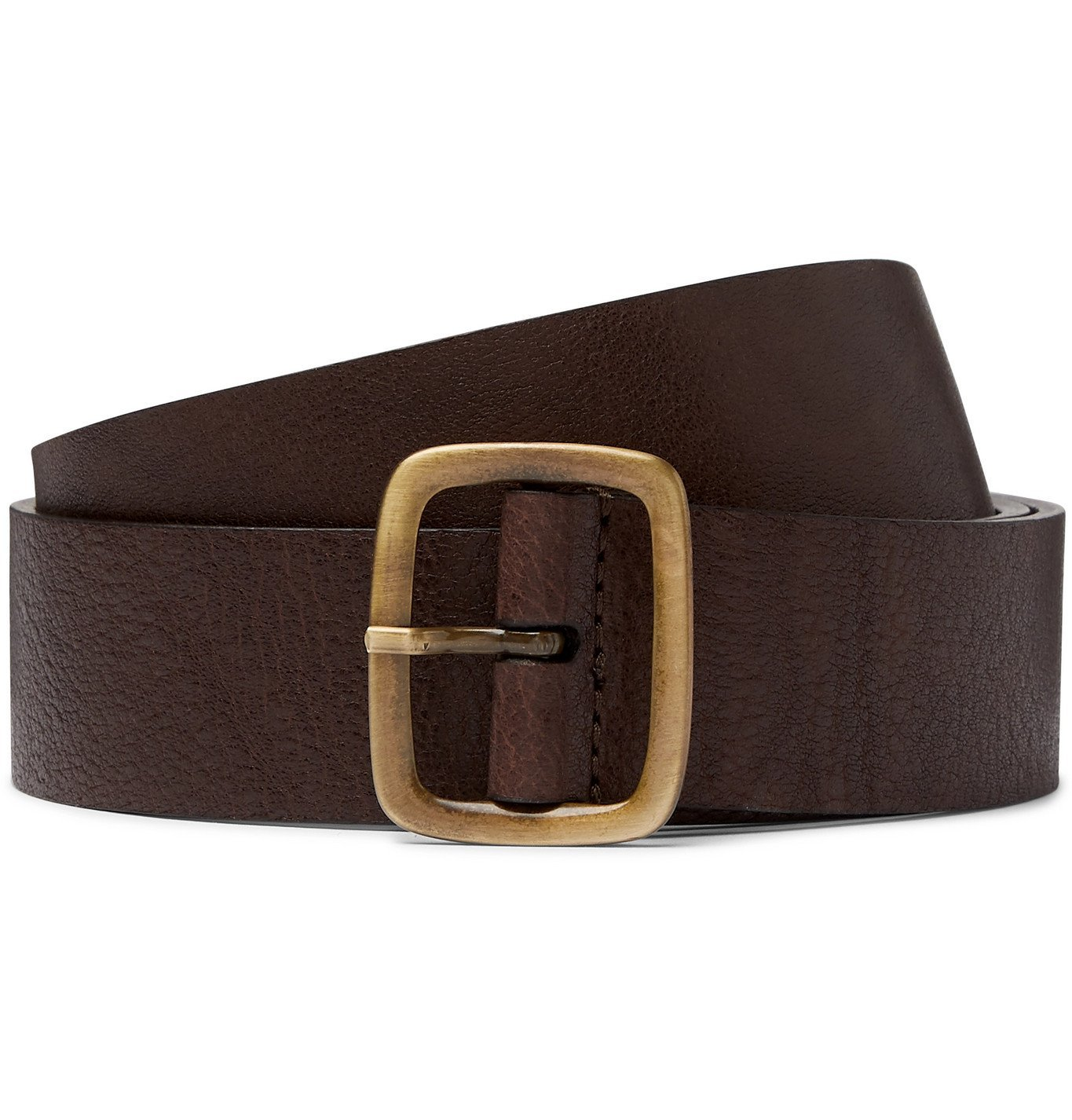 Photo: Anderson's - 3.5cm Textured-Leather Belt - Brown