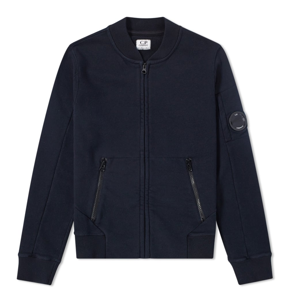 Photo: C.P. Company Undersixteen Arm Lens Jersey Zip Bomber