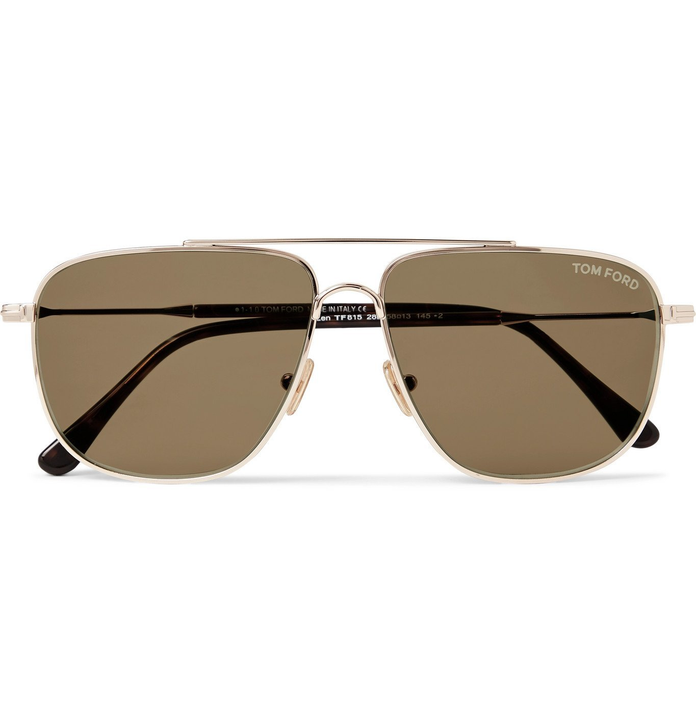 Photo: TOM FORD - Aviator-Style Gold-Tone and Tortoiseshell Acetate Sunglasses - Gold