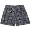 Sunspel - Printed Cotton Boxer Shorts - Navy
