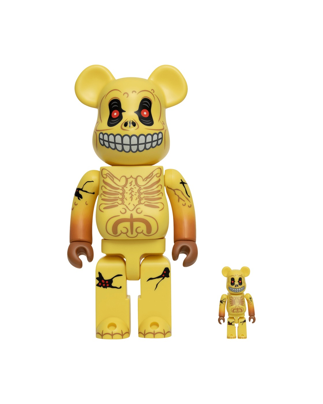 Photo: Medicom 100% + 400% Skull Face Be@Rbrick Ass