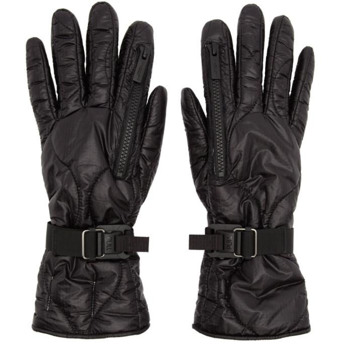 Photo: TAKAHIROMIYASHITA TheSoloist. Black Taffeta Zip Gloves