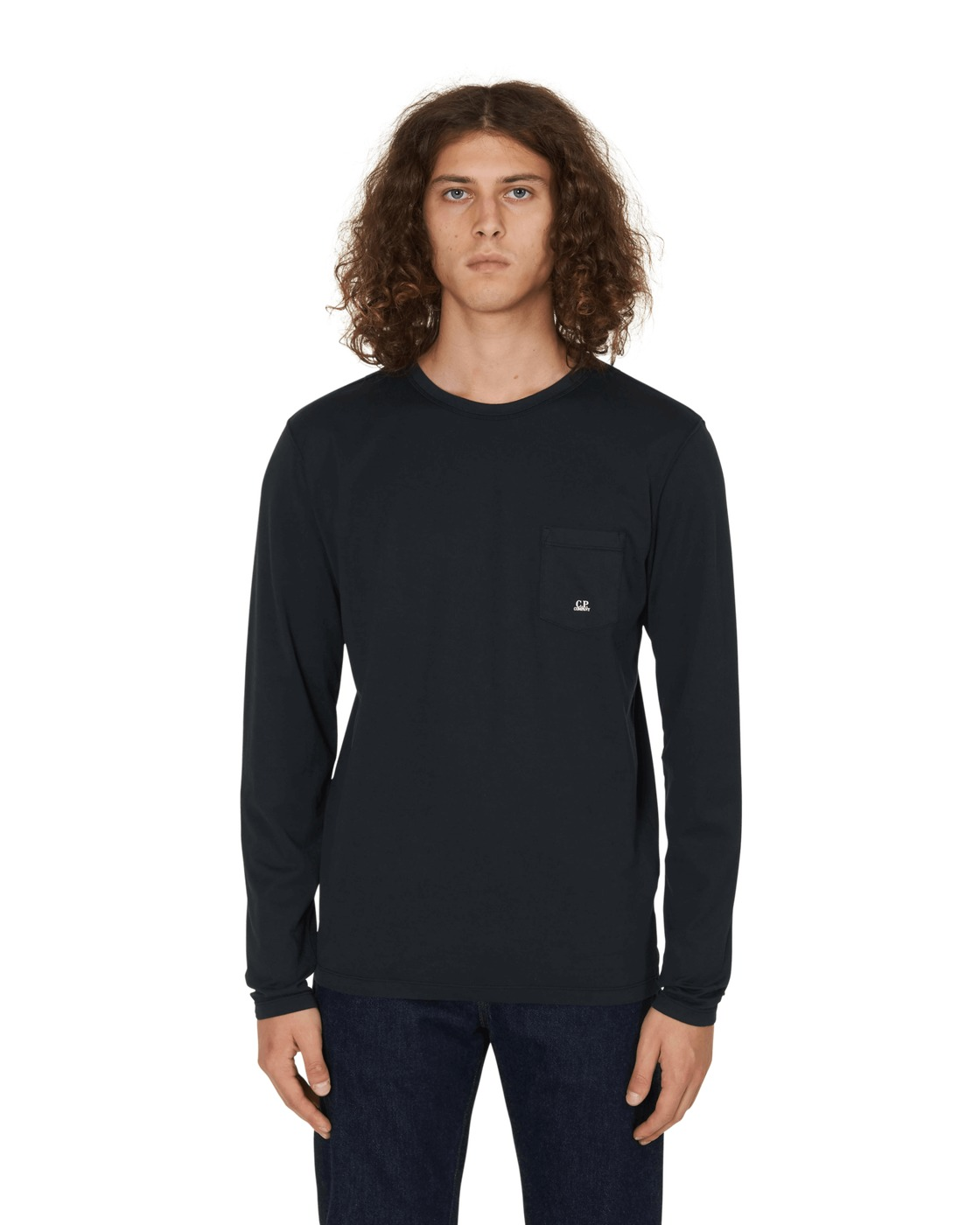C.P. Company Long Sleeves T Shirt Black