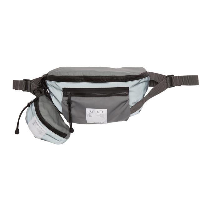 Photo: Satisfy Grey Reflective Logo Belt Bag
