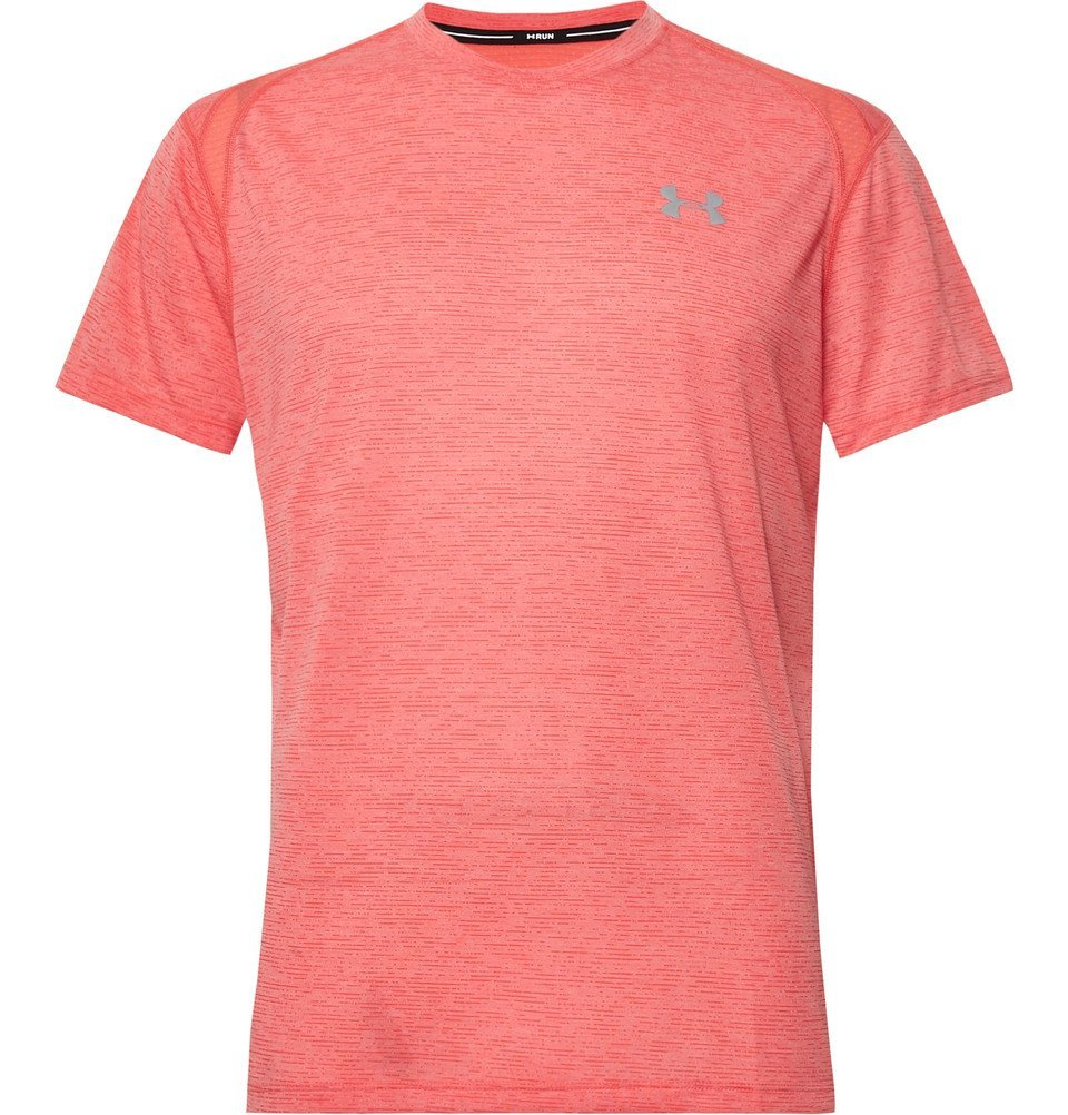 Photo: Under Armour - Streaker Twist Mélange Microthread T-Shirt - Coral