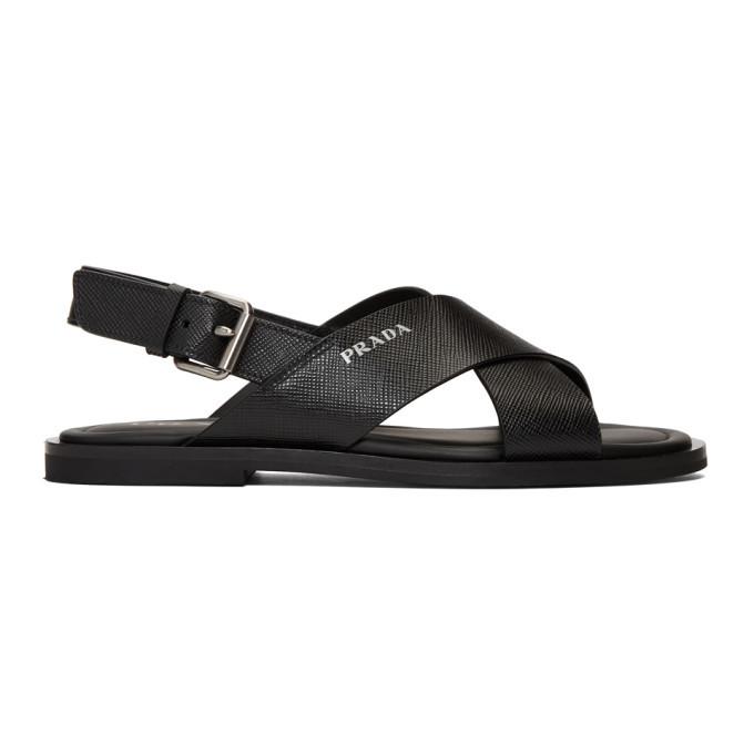 Photo: Prada Black Saffiano Sandals